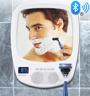 Fogless Shower Mirror with Bluetooth Speaker - #7797
