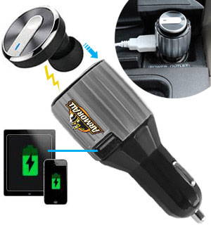 2-in-1 Headset and USB Car Charger by Armor All (Dented Packaging) - #DD-7807