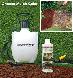 Mulch Wizard Colored Mulch Renewal Spray with Pump - #7812