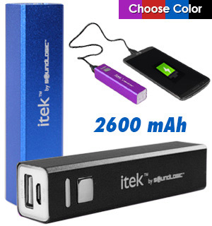 2600mAh Rechargeable Power Bank - #7819