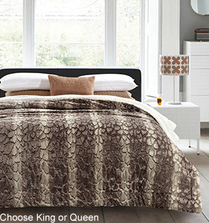 Regal Comfort Luxury Sherpa Blanket / Comforter - #7830