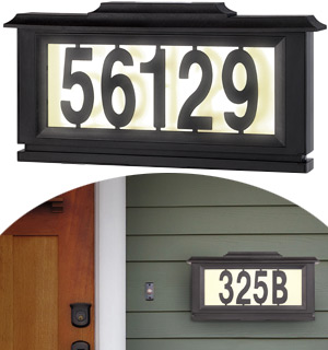 Solar Powered Light Up Street Address Sign - #7839
