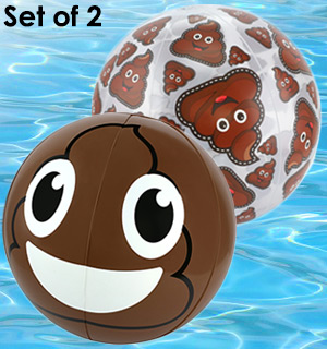 Poop Emo-Gee(Emoji) Beach Ball Set - #7867