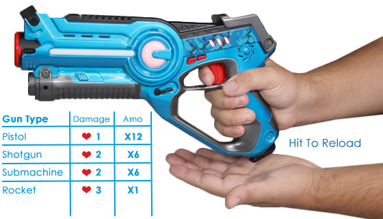 Star Team Laser Tag Blasters 2-Pack