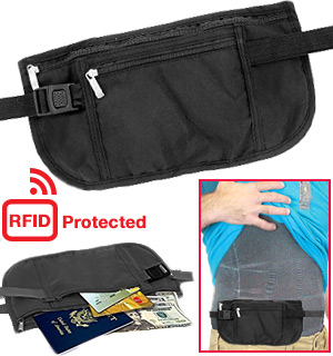 The Hideaway Waist Belt with RFID Protection - #7896
