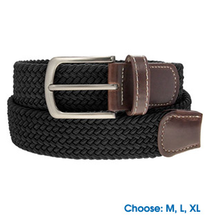 Classic Braided Elastic Belt - #7904