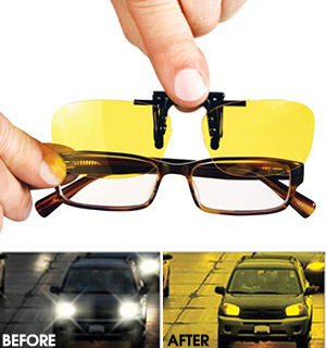 As Seen On TV Night View Clip-Ons for Any Style of Glasses - #7909