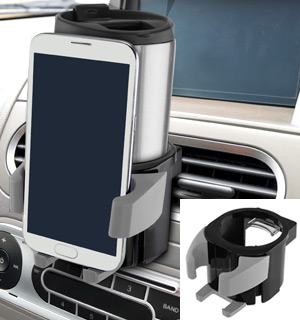 Car Cup Holder with Smartphone Mount - #7936