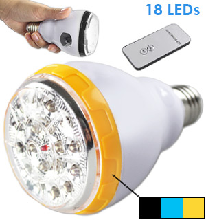 3 in 1 LED Smart Bulb w/ Remote - #7949