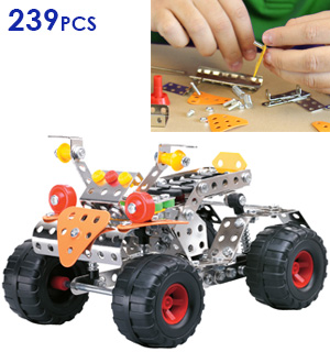 239 Piece All-terrain Vehicle Metal Construction Toy Set - #7951
