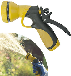 9-Way Dial-n-Spray Hose Nozzle by Centurion - #7966