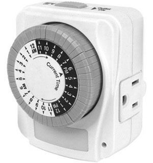 24-Hour Heavy Duty Programmable Timer with Night Light - #7986
