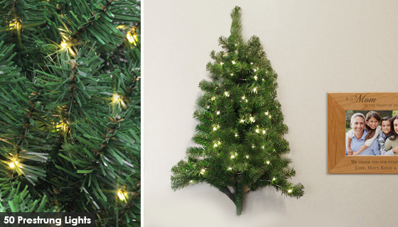 3 Pre Lit Christmas Tree.3 Foot Pre Lit Christmas Wall Tree Pulsetv