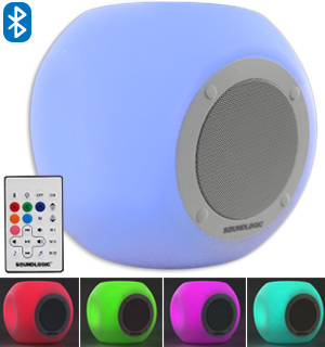Bluetooth Cube Speaker with Multi-Color Lights - #8003