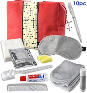Travel Essentials Kit - Pre-Filled Amenity Bag with 10 - #8011