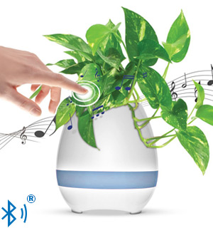 Singing Lily: The 3-in-1 Touch-Activated Bluetooth Speaker Pot - #8032