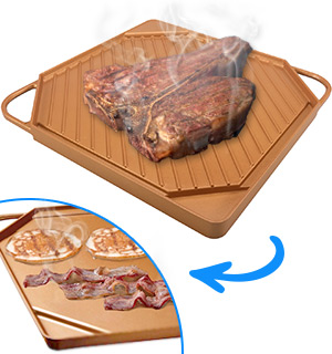 Double Sided Copper Griddle - #8036