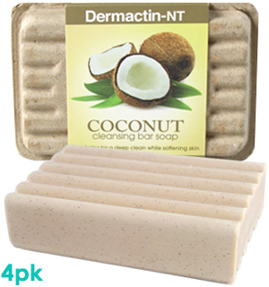 Dermactin-NT Coconut Cleansing Bar 4-Pack - #8050A