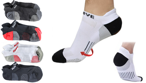Unisex Ankle-Length Compression Socks (5 Pairs)