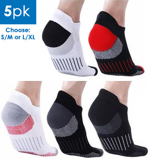 Unisex Ankle-Length Compression Socks (5 Pairs) - #8062