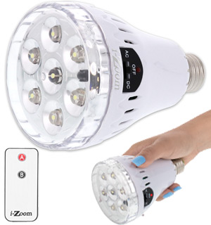 3 in 1 LED Emergency Bulb w/ Remote - #8069