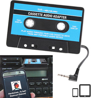 Cassette Audio Adapter for Cars and Stereos - #8087