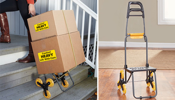 Climb Cart - The Folding Cart That Climbs Stairs