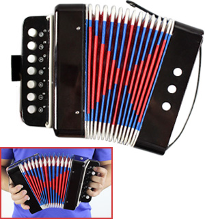 Mini Accordion - Musical Instrument Toy - #8093
