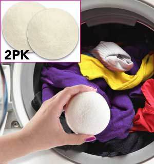 6pk Wool Dryer Balls - Natural Fabric Softener - #8096