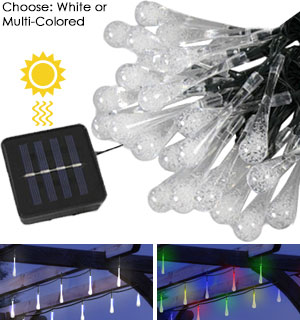 Stunning 30 Bulb Solar Icicle Lights - #8108