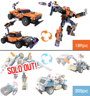 3-in-1 Constructechs RC Vehicles - Compatible with Legos - #8121