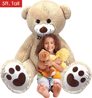 Inflate-A-Mals 5ft Teddy Bear - The Perfect I LOVE YOU Gift - #8123