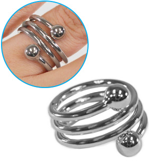 Silvertone Weight Loss Ring
