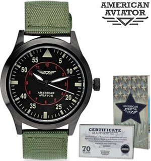 Vintage Style American Aviator Watch - #8126