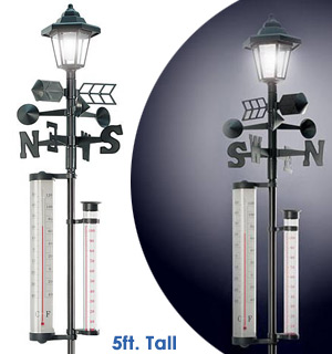 Solar Powered Lamp Post <br />with Weather Station - #8141