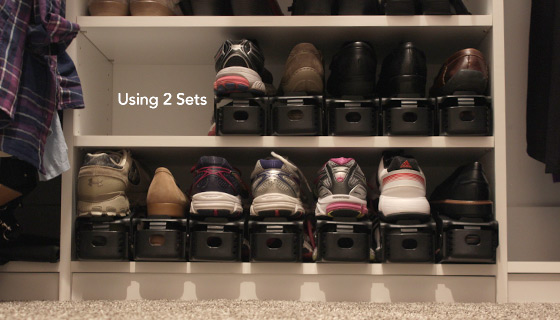 6-Pack of Space-Saving Shoe Organizers