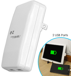 Dual Port USB Charger by EZ Travel - #8159