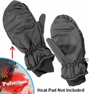 Heat Pad Mittens Mens Large