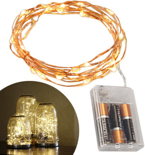 Indoor LED Starry String Lights - 10ft Copper Wire - #8175