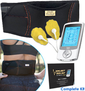 Smart Relief TENS Unit Electro-Therapy Massager Belt Combo - #8181