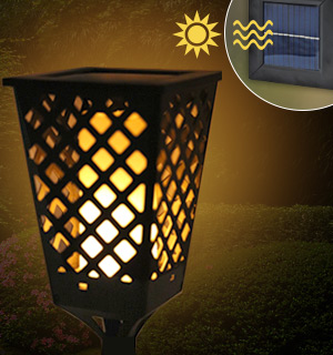 Dancing Solar Flame Tiki Torch Light