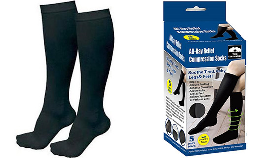 5-Pack of All-Day Relief Compression Socks