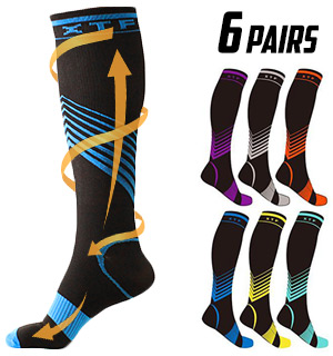 Fashion Household Items Verge Knee-High Sport Compression Socks