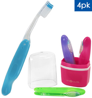 Enroute Travel Toothbrush 4-Pack - #8229