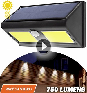 Night Beam Solar and Motion Activated Outdoor Security Light