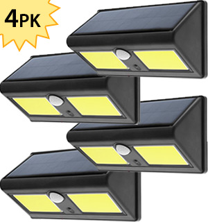 4-Pack of Night Beam  Solar and Motion Activated Outdoor Security Light - #8246A
