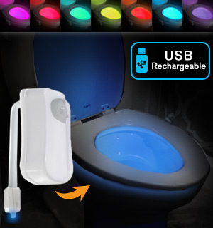 Toilet Bowl Color-Changing Night Light - Rechargeable - #8250