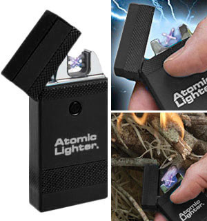 The Atomic Lighter: Rechargeable, Fuel-Free Lightning Lighter - #8267