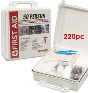 50 Person First Aid Kit with Waterproof Case - #8283
