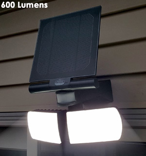 Industrial Solar-Powered Dual Security Spotlights - #8293